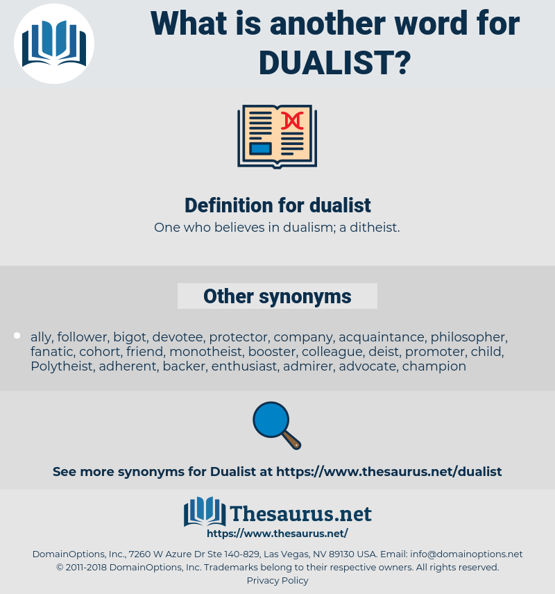 dualist, synonym dualist, another word for dualist, words like dualist, thesaurus dualist