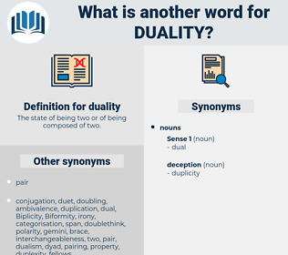 duality, synonym duality, another word for duality, words like duality, thesaurus duality