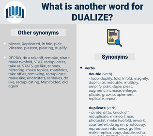 dualize, synonym dualize, another word for dualize, words like dualize, thesaurus dualize
