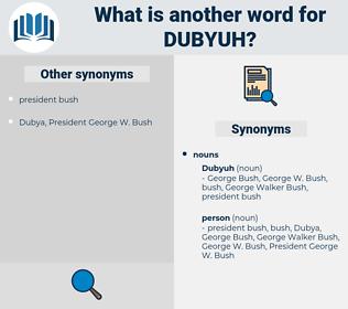 dubyuh, synonym dubyuh, another word for dubyuh, words like dubyuh, thesaurus dubyuh