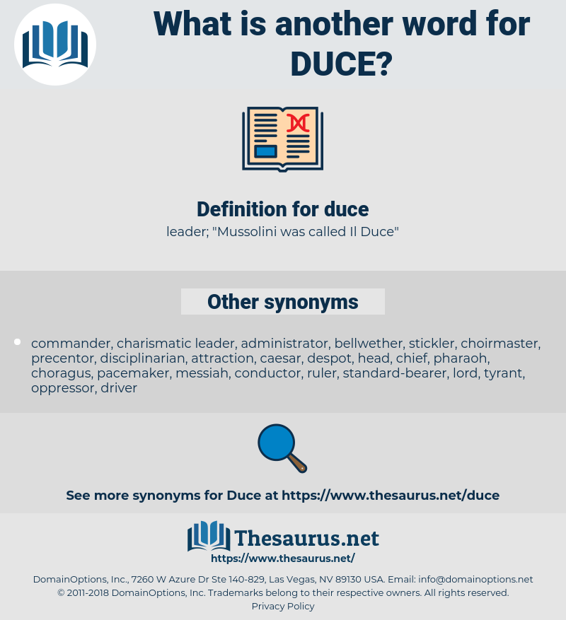 duce, synonym duce, another word for duce, words like duce, thesaurus duce