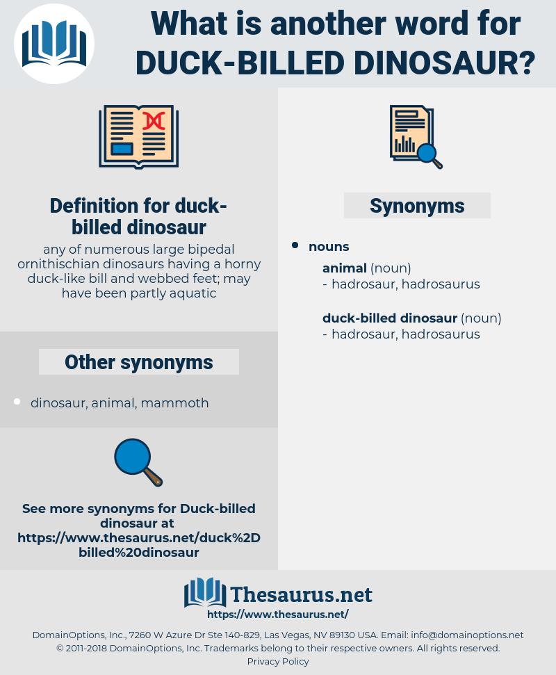 duck-billed dinosaur, synonym duck-billed dinosaur, another word for duck-billed dinosaur, words like duck-billed dinosaur, thesaurus duck-billed dinosaur