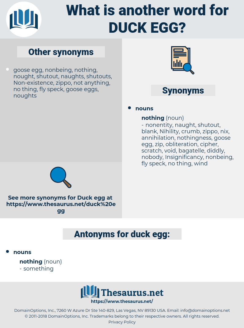 duck egg, synonym duck egg, another word for duck egg, words like duck egg, thesaurus duck egg