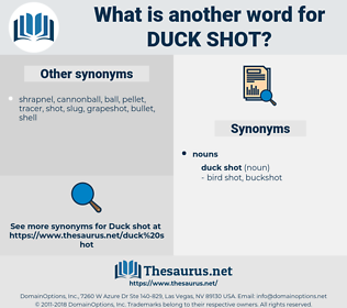 duck shot, synonym duck shot, another word for duck shot, words like duck shot, thesaurus duck shot