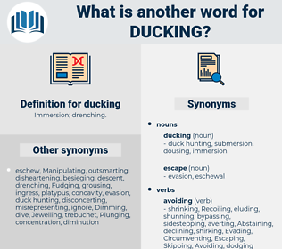 ducking, synonym ducking, another word for ducking, words like ducking, thesaurus ducking