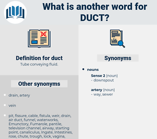 duct, synonym duct, another word for duct, words like duct, thesaurus duct