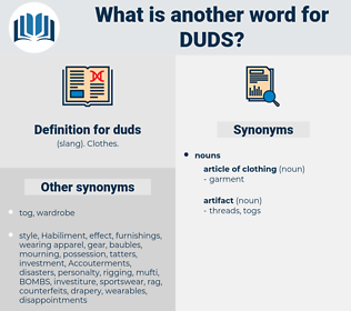 duds, synonym duds, another word for duds, words like duds, thesaurus duds