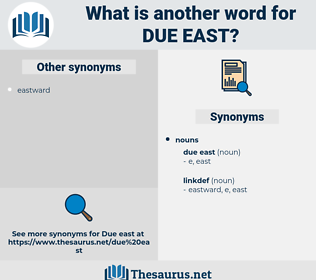 due east, synonym due east, another word for due east, words like due east, thesaurus due east
