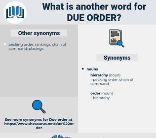 due order, synonym due order, another word for due order, words like due order, thesaurus due order