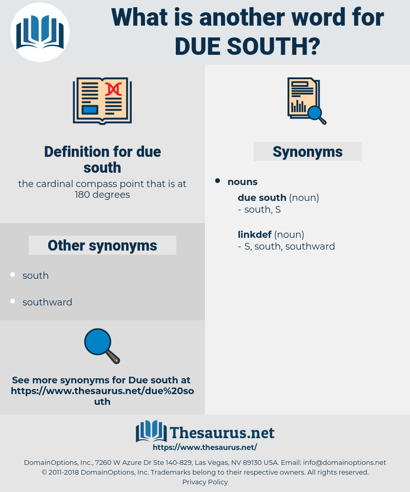 due south, synonym due south, another word for due south, words like due south, thesaurus due south