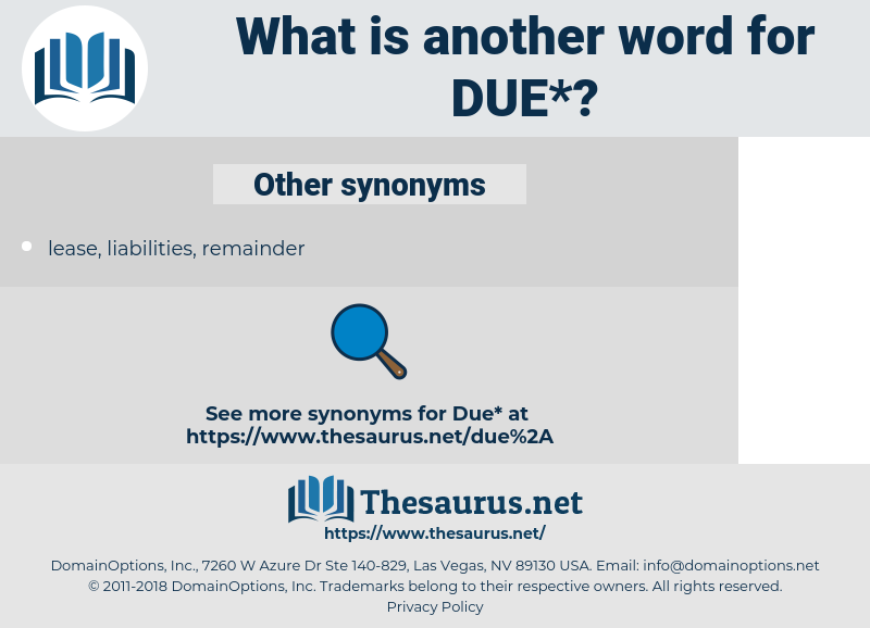 due, synonym due, another word for due, words like due, thesaurus due