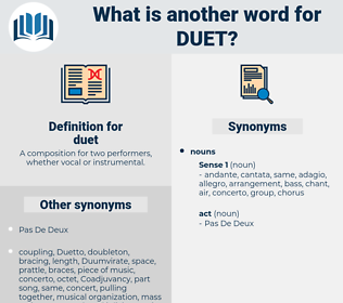 duet, synonym duet, another word for duet, words like duet, thesaurus duet