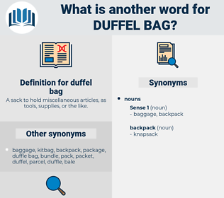 duffel bag, synonym duffel bag, another word for duffel bag, words like duffel bag, thesaurus duffel bag