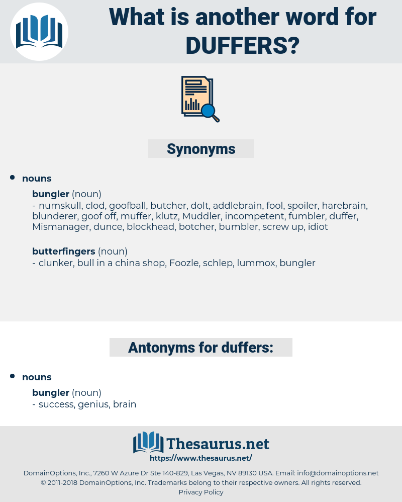 duffers, synonym duffers, another word for duffers, words like duffers, thesaurus duffers