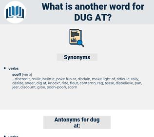 dug at, synonym dug at, another word for dug at, words like dug at, thesaurus dug at