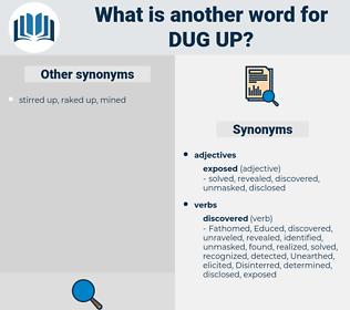 dug up, synonym dug up, another word for dug up, words like dug up, thesaurus dug up
