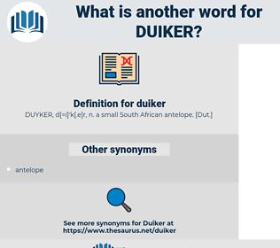 duiker, synonym duiker, another word for duiker, words like duiker, thesaurus duiker