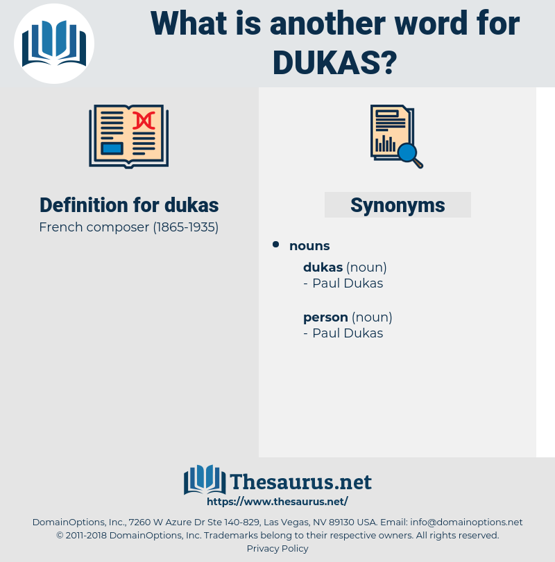 dukas, synonym dukas, another word for dukas, words like dukas, thesaurus dukas