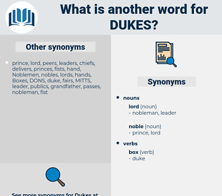 DUKES, synonym DUKES, another word for DUKES, words like DUKES, thesaurus DUKES