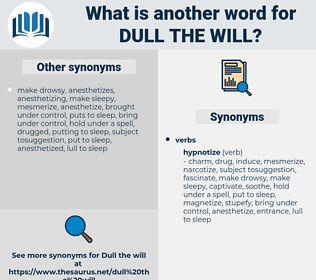 dull the will, synonym dull the will, another word for dull the will, words like dull the will, thesaurus dull the will