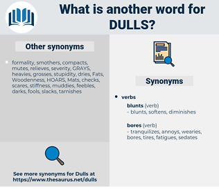 dulls, synonym dulls, another word for dulls, words like dulls, thesaurus dulls