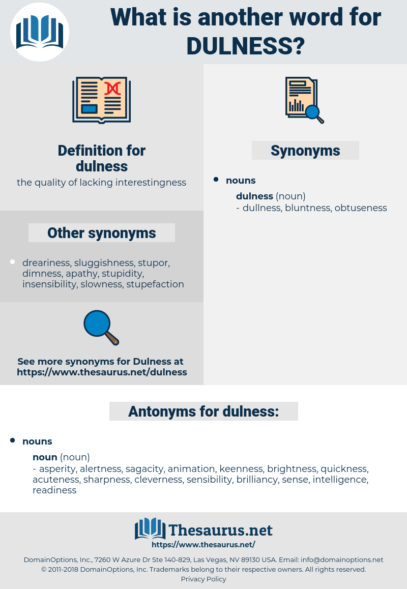 dulness, synonym dulness, another word for dulness, words like dulness, thesaurus dulness