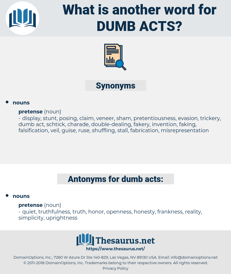 dumb acts, synonym dumb acts, another word for dumb acts, words like dumb acts, thesaurus dumb acts