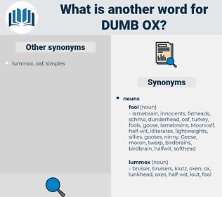 dumb ox, synonym dumb ox, another word for dumb ox, words like dumb ox, thesaurus dumb ox