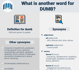 dumb, synonym dumb, another word for dumb, words like dumb, thesaurus dumb