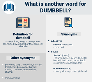 dumbbell, synonym dumbbell, another word for dumbbell, words like dumbbell, thesaurus dumbbell