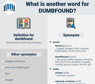 dumbfound, synonym dumbfound, another word for dumbfound, words like dumbfound, thesaurus dumbfound