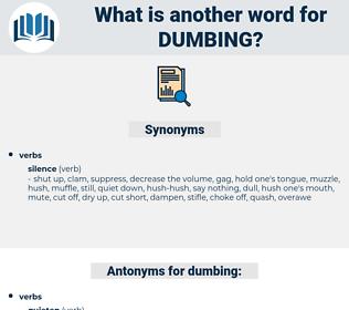dumbing, synonym dumbing, another word for dumbing, words like dumbing, thesaurus dumbing