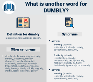 dumbly, synonym dumbly, another word for dumbly, words like dumbly, thesaurus dumbly
