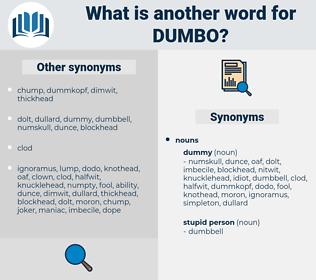 DUMBO, synonym DUMBO, another word for DUMBO, words like DUMBO, thesaurus DUMBO