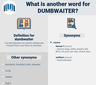dumbwaiter, synonym dumbwaiter, another word for dumbwaiter, words like dumbwaiter, thesaurus dumbwaiter