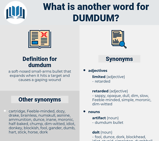 dumdum, synonym dumdum, another word for dumdum, words like dumdum, thesaurus dumdum