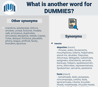 Dummies, synonym Dummies, another word for Dummies, words like Dummies, thesaurus Dummies