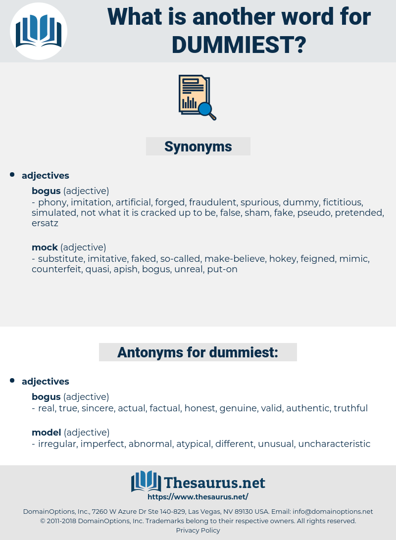 dummiest, synonym dummiest, another word for dummiest, words like dummiest, thesaurus dummiest