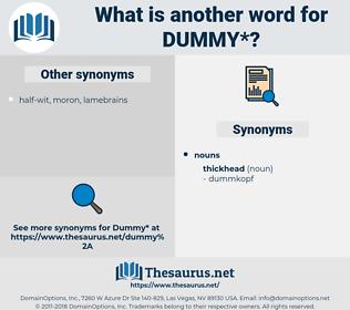dummy, synonym dummy, another word for dummy, words like dummy, thesaurus dummy