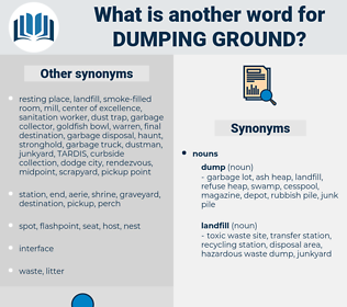 dumping ground, synonym dumping ground, another word for dumping ground, words like dumping ground, thesaurus dumping ground