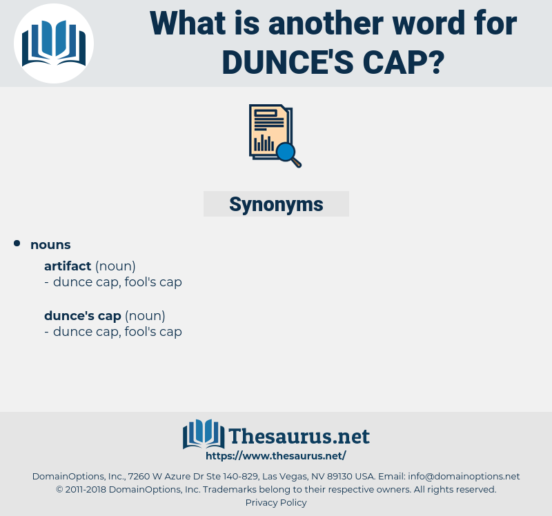 dunce's cap, synonym dunce's cap, another word for dunce's cap, words like dunce's cap, thesaurus dunce's cap