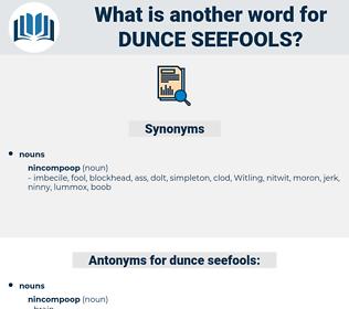 dunce seefools, synonym dunce seefools, another word for dunce seefools, words like dunce seefools, thesaurus dunce seefools