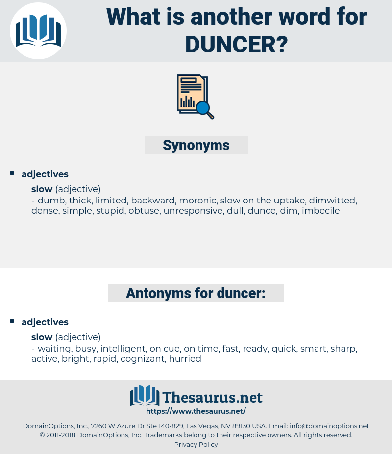 duncer, synonym duncer, another word for duncer, words like duncer, thesaurus duncer