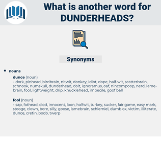 dunderheads, synonym dunderheads, another word for dunderheads, words like dunderheads, thesaurus dunderheads