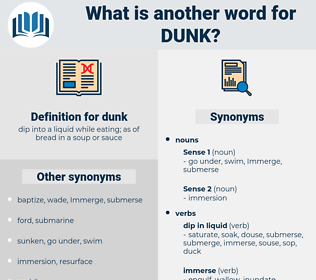dunk, synonym dunk, another word for dunk, words like dunk, thesaurus dunk