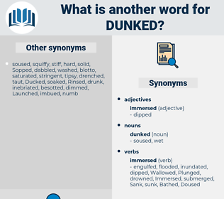 dunked, synonym dunked, another word for dunked, words like dunked, thesaurus dunked