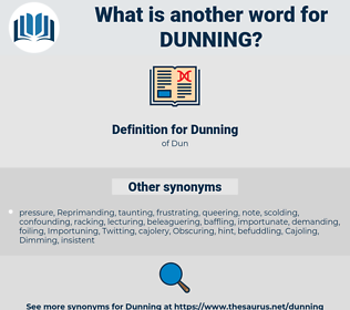 Dunning, synonym Dunning, another word for Dunning, words like Dunning, thesaurus Dunning