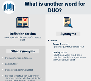 duo, synonym duo, another word for duo, words like duo, thesaurus duo