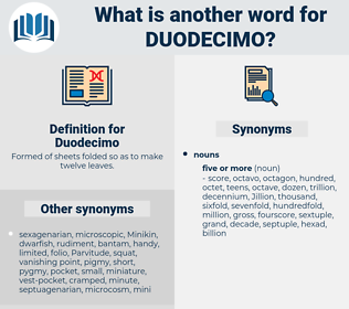 Duodecimo, synonym Duodecimo, another word for Duodecimo, words like Duodecimo, thesaurus Duodecimo
