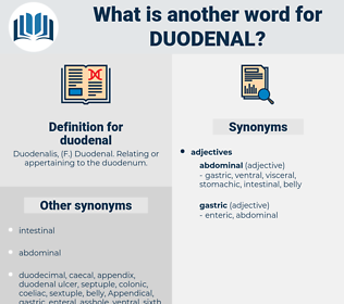 duodenal, synonym duodenal, another word for duodenal, words like duodenal, thesaurus duodenal